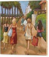 Venice Beach Promenade Wood Print