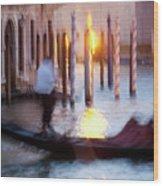 Venice Blue Hour 1 Wood Print