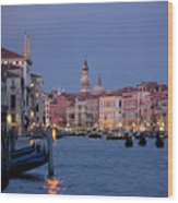 Venice Blue Hour 2 Wood Print