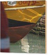 Venice Boat Closeup Wood Print