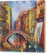 Venice Bridge Wood Print