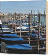 Venice Cab Stand Wood Print