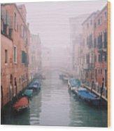 Venice Canal I Wood Print