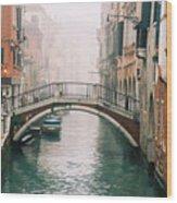 Venice Canal II Wood Print