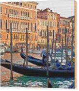 Venice Canalozzo Illuminated Wood Print