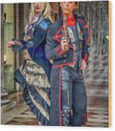 Venice Carnival Characters_dsc1364_02282017  Wood Print