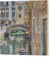 Venice Channels1  Wood Print