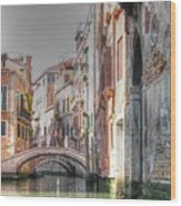 Venice Channelss Wood Print