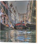 Venice Channelsss Wood Print
