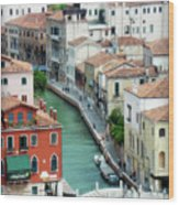 Venice City Of Canals Wood Print by Julie Palencia