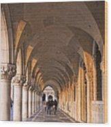 Venice - Doge's Palace Arcade Wood Print