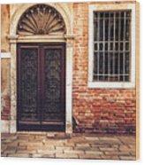 Venice Door Wood Print