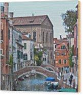 Venice Double Bridge Wood Print