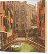 Venice Dream Wood Print by Denise Darby