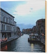 Venice Evening Wood Print