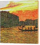 Venice Eventide Wood Print