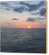 Venice Florida Sunset Wood Print