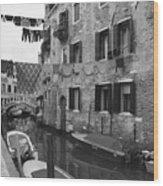 Venice Wood Print by Frank Tschakert
