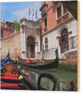 Venice From A Gondola Wood Print