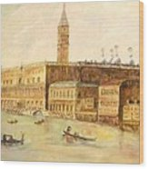 Venice From Grand Canal Wood Print