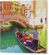 Venice Gondola Series #1 Wood Print