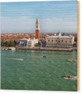 Venice Grand Canal And St Mark's Campanile Wood Print