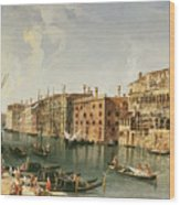 Venice, Grand Canal And The Fondaco Dei Turchi  Wood Print