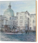 Venice Grand Canal Watercolour  Wood Print