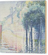 Venice Wood Print by Henri-Edmond Cross