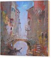 Venice Impression Wood Print