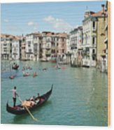 Venice In Colors Wood Print