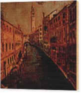 Venice In Golden Sunlight Wood Print