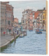 Venice In Pastel  Wood Print