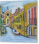 Venice In September Wood Print