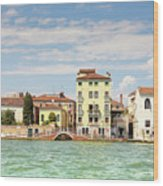 Venice In Summer  Wood Print