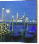 Venice Lagoon At Dusk Wood Print