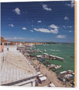 Venice Lagoon Panorama - Bird View Wood Print