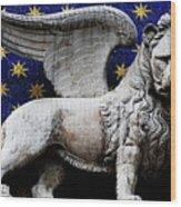Venice Lion Wood Print