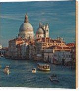 Venice Morning Traffic Wood Print