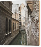Venice One Way Street Wood Print by Milan Mirkovic