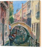 Venice Ponte Widmann Wood Print