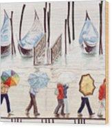 Venice Rain Wood Print