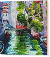 Venice Reflection Wood Print