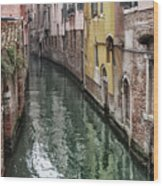 Venice - Reflections Wood Print