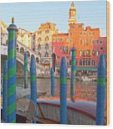 Venice Rialto Bridge Wood Print