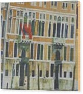 Venice Scene.   Wood Print