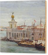 Venice Wood Print by Sir Samuel Luke Fields