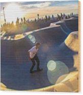 Venice Skate Park Wood Print