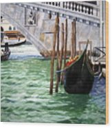 Venice Street Wood Print