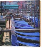 Venice Sunrise Wood Print by Inge Johnsson